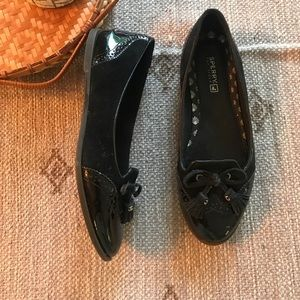 Sperry Shoes - Sperry black patent/ suede tassel loafers size 8